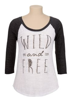 Wild and Free Graphic print Baseball tee Dress Up Outfits, Fashion Outfits, Womens Fashion, Dresses, Pretty Outfits, Cool Outfits, T Shirts For Women, Clothes For Women, Graphic Shirts