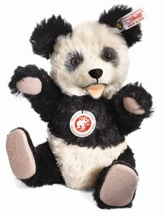 Steiff Mohair Stuffed Panda (Limited Edition) - Plush Hub