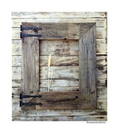 Handmade Reclaimed Barn Wood Frame for Mirror, Large Rustic Wood Frame, Rustic Home Decor, Weathered Old Wood, Wall Decor
