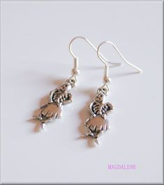 Skeleton earrings, charms £3.00