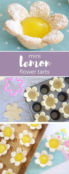 Homemade Mini Lemon Flower Tarts. Perfect bite sized desserts for any special occasion or Easter brunch this weekend. With a buttery, flaky flower crust and sweet, tart creamy filling, this dessert will have all of your guests wanting more.
