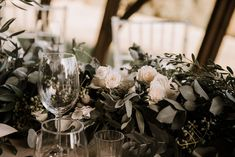 Greenery Runner with Floral Pops of White by Paradiso Flowers Chelsea, Greenery, Our Wedding, Photos, Table Decorations, Floral, Flowers, Home Decor, Sheep