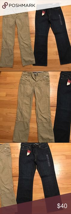 LOT OF TWO Women's Pants Columbia and NWT Gap Reasonable offers considered 🛍 Bundle 2 or more items and save! 🎁 Bundle 5 items and I will reimburse the shipping fee 🎉. LOT OF TWO Women's Pants! Includes: 1) Columbia Sportswear Khaki Preloved regular size 2 pants; 2) NWT $50 Gap Jeans Classic Fit size 6A stretch jeans. Great condition. Columbia Pants