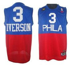 c7e9ca984dcc Philadelphia 3 Allen Iverson Soul Swingman Stitched Blue And Red Jersey  Wholesale Cheap