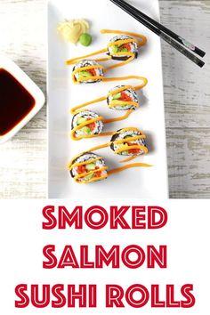 Smoked Salmon Sushi Rolls - Tastefulventure