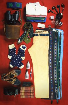 Beautiful collection of preppy products for men.