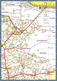 Map of Namibia Africa Road Map Bu Version 2010 4x4, Wanderlust