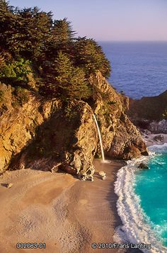 Waterfall, Big Sur, #California by Frans Lanting