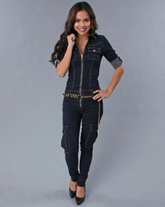 GUESS Women's Halter Denim Jumpsuit in Picture Show Wash GUESS ...