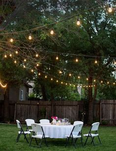 Anniversary Dinner Party Throw a Backyard Dinner Party with fun string lights. Make sure to pick up a variety of Lindeman's for your guests.Throw a Backyard Dinner Party with fun string lights. Make sure to pick up a variety of Lindeman's for your guests. Outdoor Hanging Lights, Outdoor Post Lights, Outdoor Decor, Rustic Outdoor, Outdoor Spaces, Backyard Party Lighting, Patio Lighting, Lighting Ideas, Outdoor Parties