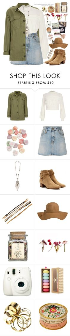 """""""2252. Ultra Music Festival"""" by chocolatepumma ❤ liked on Polyvore featuring Topshop, River Island, R13, Yves Saint Laurent, Free Press, Polaroid, Fuji, Forever 21 and Elizabeth Arden"""