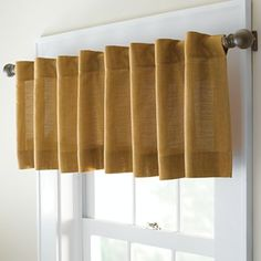 For Kitchen Window use 2 of these valances- Studio Nolita Solid Back-Tab Tailored Valance