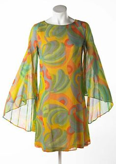 1967 Dress, Georgie of Group 30, printed cotton, sold at Way In, Harrods, Knightsbridge