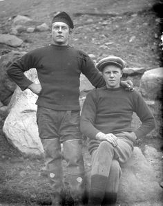 Men of the Faroe Islands, c. 1900.