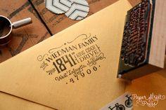 return address flap custom stamp - etsy