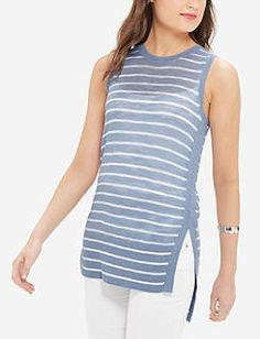Striped Summer Weight Tunic Tank