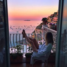"""Jessica Stein on Instagram: """"First light over Positano. My favourite time of day, when it feels like the world is still asleep """""""