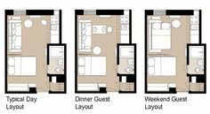 Different layouts for one room