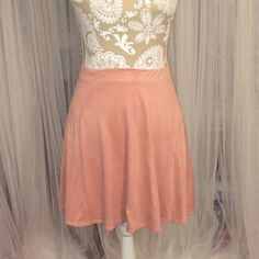 Rose colored Skater Skirt Super soft rose colored skater LA Hearts Skirts Circle & Skater
