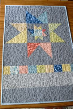 Wonky Star Baby Quilt Made to Order by TheEarlyGirl on Etsy