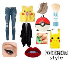"""""""Pokemon Geeks"""" by jdevine87509 on Polyvore featuring Frame Denim, LORAC and Maybelline"""