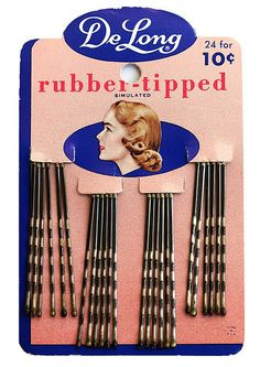 Packaging makes perfect: vintage bobby pins