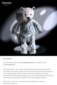 The Luminary Africa, Teddy Bear, Toys, Children, Artist, Crafts, Animals, Design, Activity Toys