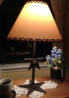 Rustic Star Table Lamp With Base And By RockinLDesign 7500