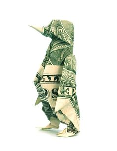Funny Money: money origami penguin for Austin:p