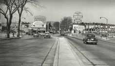 Baltimore's Park Circle, in Northwest Baltimore City.  Note the Koontz milk and the Gunther's beer signs.