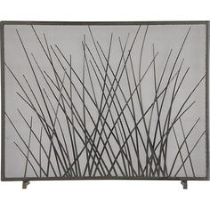 Prairie Grass Fireplace Screen in Fireplace Accessories   Crate and Barrel...So tired of drooling over this boopy. i must have it.