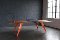 Here is our most recent creation! A one-of-a-kind Ping Pong/Table Tennis conference table. Crafted here in the Good Mod workshop with the design industry in min Ping Pong Table Tennis, Best Mods, Conference Table, Table Games, Table Legs, Home Furnishings, Home Furniture, Interior Design, Home Decor