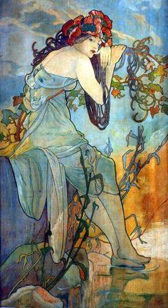 Rusałka by Alfons Mucha