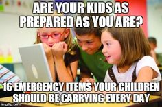 Kid preparedness - every day carry for kids in school
