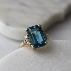 The Best Vintage Engagement Rings on Etsy: menkDuke Vintage Cocktail Gemstone Ring