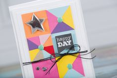 Fun Stampers Journey Card designed by Tania Willis   Happy Day: Fun with Scraps   Card Making   paper crafting