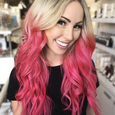 Experiment With Your Hair with Pink hair Dye Strawberry Jam: Dusty Pink Vegan Semi-Permanent Hair Dye - Lime Crime Balayage Hair Brunette Short, Pale Blonde Hair, Ombre Blond, Best Ombre Hair, Medium Blonde Hair, Pink Hair Dye, Purple Wig, Ombre Hair Color, Blonde Color