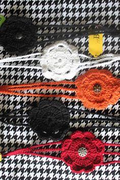 Crocheted Flower Headbands: free pattern