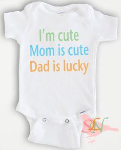 Cute baby Onesie Bodysuit Funny Quote  Baby by SweetLittleNursery, $20.00