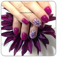 Purple Nails with Designs
