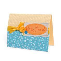 Embossed Hello Friend Card