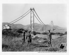Construction of the Golden Gate Bridge - 1935
