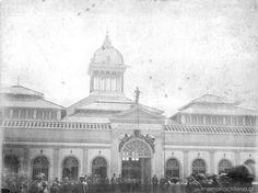 Mercado Central, 1890 Chile, Taj Mahal, Building, Travel, 19th Century, Antique Photos, Monuments, Saint James, Military