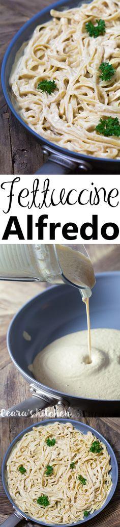 VEGAN Fettuccine Alfredo with flavorful undertones of roasted garlic and onion.