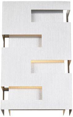 I love how this Possini Euro Brushed Aluminum Cutout Wall Sconce looks like a tiny piece of architecture. #EU72660