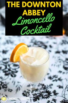 This limoncello cocktail contains Crema di Limoncello, or as we Yanks call it, Limoncello Cream. If you haven't yet used it, you'll find that it also somehow seems more refined than regular limoncello. Check out this delicious Downtown Abbey Limoncello Cocktail! #limoncello #cocktails #limoncellococktail #limoncellocream #cremadilimoncello #mixeddrinks #drinks