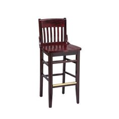 "Regal School House Bar Stool Finish: Black, Seat Height: 26"", Footrest and Nail Trim: Chrome"