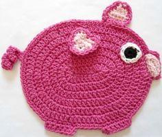 To match my pig kitchen gadgets ~ A Must Have!  #298 The Little Piggy Crochet Dishcloth – Maggie Weldon Maggies Crochet