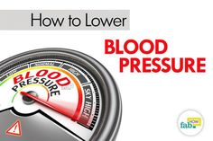 How to Lower Blood Pressure Fast without Medication | Fab How
