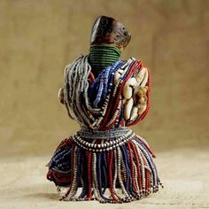 Africa | Doll from the Fali people of Chad | Wood, glass beads and shells